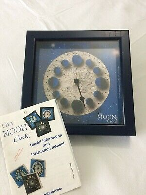 """moon phase wall clock made in France    imexpro 8"""" by 8"""" wall moon (phases)"""