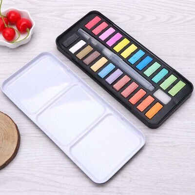 HOT 24 Watercolour Paint Set With Brush Painting Water Colour Art Artist Kit