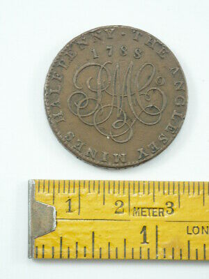 Anglesey Mines Halfpenny Token 1788, Parys Mine Company, Anglesey, Wales