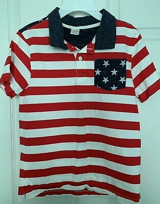Boys Gymboree Patriotic Flag 4th Of July Polo Shirt Size 10 Labor Day