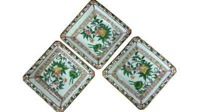 Antique Set of 3 Small Asian Trinket Dishes, Fine Japanese Porcelain, PA3316