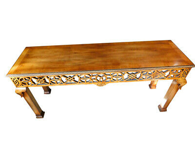 Stately Maple Wood Altar table, Console Table, Carved, 70″W, PA5269