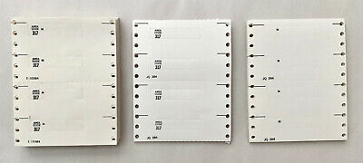 Vintage Bell System Touch-Tone Dial Number Cards For Western Electric Telephones