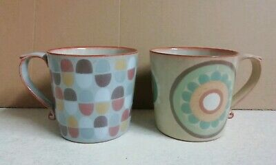 NEW Denby Heritage Large. Accent Mugs X 2