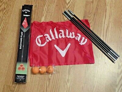 Callaway GOLF Backyard Flag Set with 3 Soft-Elite Practice Balls