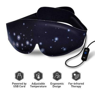 Heating Eye Mask - Heated Sleep with Adjustable Temperature Fast Dispatch UK