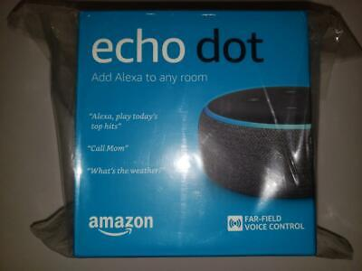 Amazon Echo Dot 3Rd Generation W/ Alexa Smart Speaker Nib Charcoal