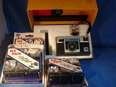 Vintage Kodak Instamatic X-15 Color Outfit In Original Box 3 Pks Magic Cubes
