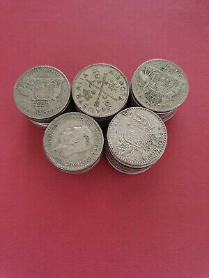 Bulk Lot of 50  Post 1945 Australia Florins  (500 Silver)
