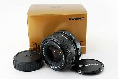 cosina 28mm F/2.8 mc macro lens for pentax w/box & caps Excellent++ from Japan