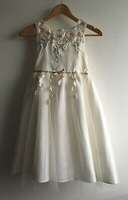 Monsoon girls flower White dress Wedding Party Special Occasions age 11 Yrs
