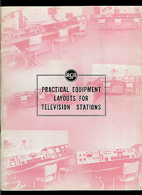 RCA Practical Equipment Arrangement Layouts For Television Stations Brochure
