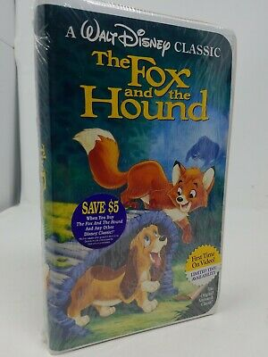 The Fox and the Hound (VHS, 1994) Black Diamond New with Disney sticker!