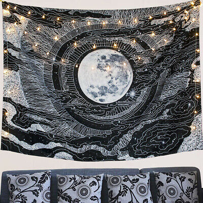 Sun Star Moon Large Tapestry Mandala Wall Hanging Bedspread In/Outdoor Decor