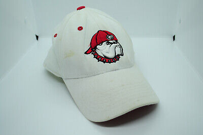 White Top of the World NCAA UGA University of Georgia Bulldogs One Fit Hat Cap