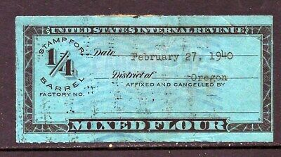 "Us Stamp Internal Revenue ""Mixed Flour"""