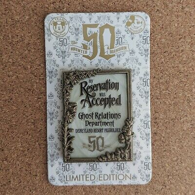 Reservation Accepted Pin 2019 Disney Haunted Mansion 50th Anniversary LE 3000 AP