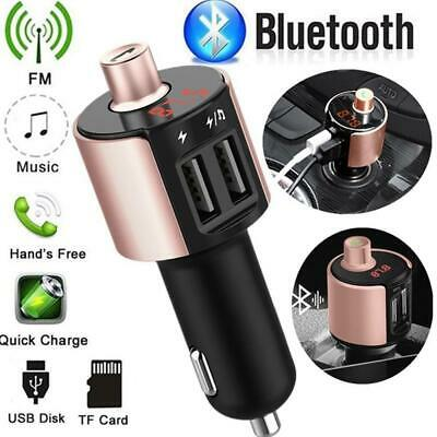 Wireless Bluetooth FMAuto Radio Adapter Car MP3 Player 3.4A Dual USB Car Charger