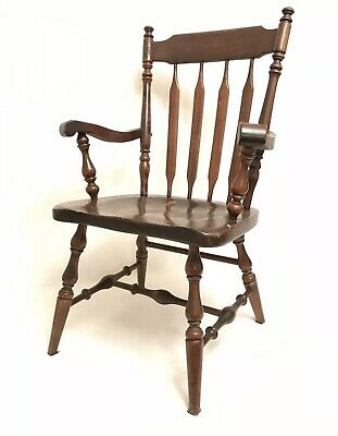 Ethan Allen Captain's Chair Old Tavern 12-6011 VTG Pine Wood USA Dining Room