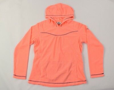 Columbia Girls Neon Orange Glacial Fleece Pullover Hoodie #1562441 SZ XL 18/20