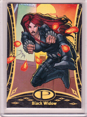 2014 UD Marvel Premier Black Widow Card #3 Gold Spectrum 16/25 Avengers
