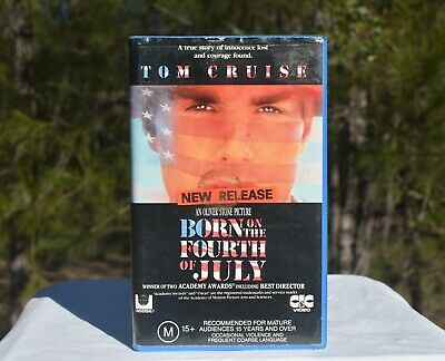 1989 Born On The Fourth Of July - VHS Pal Clamshell - CIC-Taft - Tom Cruise -