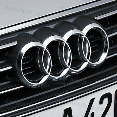 For Audi Rings Chrome Grill Front Hood A1 A3 A4 S4 A5 S5 A6 S6 SQ7 Badge Emblem