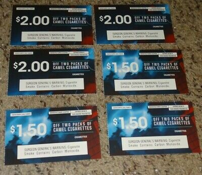 Camel coupons worth $10.50 in savings