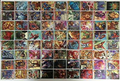 Marvel  X-Men 1995 All Chromium Fleer Ultra 100 Base Trading Card Set