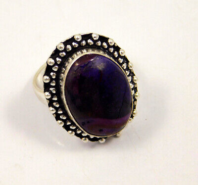 Rock Calcy .925 Silver Plated Handmade Ring Size-8 Jewelry JC3980