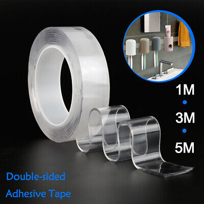 New Washable Adhesive Double-sided Tape Nano Magic Invisible Gel Traceless Tape