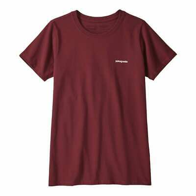 BANK HOLIDAY SALE! Patagonia Womens Pastel P-6 Logo Responsibili-Tee Rocky Red
