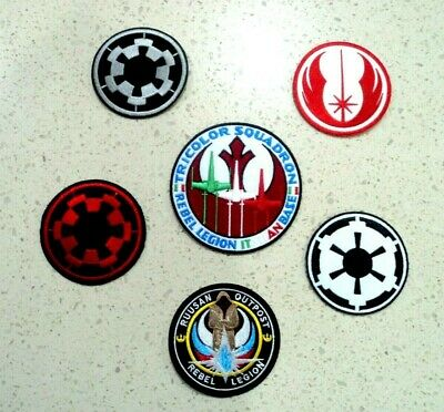 Star Wars Galactic Empire Jedi Patches Embroidered Applique Badge Iron Sew On