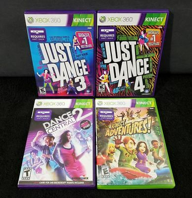 JUST DANCE 3 4 Dance Central 2 Kinect Adventures COMPLETE NO