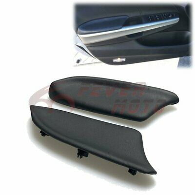 Black Front Door Inside Armrest Cover Replacement For 08-12 Honda Accord 4DR FM