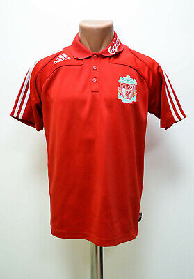 Liverpool England 2007/2008 Football Polo Jersey Adidas Size S Adult