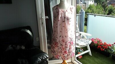Pretty Primark Pink Butterfly/Floral Patterned Lined S/Less Dress in Size 16