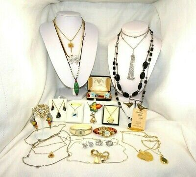 Auction Bulk Lot Assorted Vintage including sterling silver Jewellery
