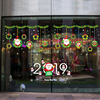 New Year Home Decoration Window Decals Festival Mural Wall Art Wall Stickers