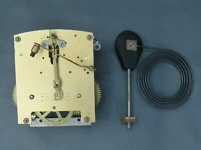 Vintage Smiths mantel clock movement and gong for repair or spares