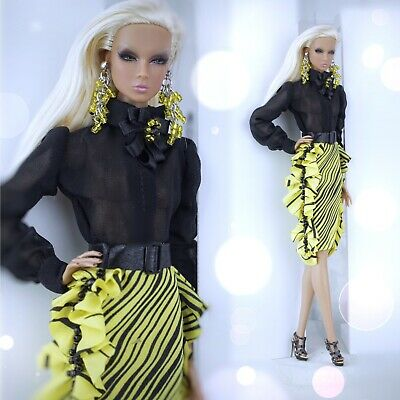 """OOAK OUTFIT for Fashion Royalty FR2 12"""" doll Nu Face Galiana Designs Barbie"""