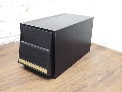 Retro Black Ash Wood Effect CD Storage Holder Case Holds 20 cds FREE POSTAGE !!