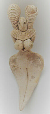 Ancient Indus Valley Mehgarh Seated Terracotta Fertility Figure 2800-2000Bce