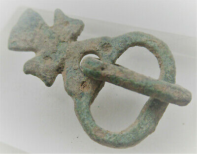 Superb Ancient Byzantine Crusaders Buckle With Cross. 600-700Ad