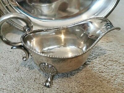 Beautiful Antique Silver Plated Gravy Boat (Weight - 335 g)