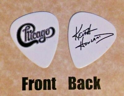 CHICAGO band logo KEITH HOWLAND signature guitar pick -(w)