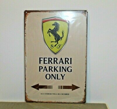 FMS1 Ferrari Metal Sign New 30 cm H X 20 cm W