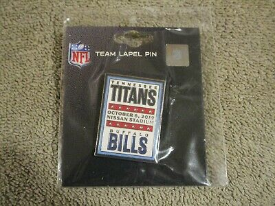 Tennessee Titans VS Buffalo Bills October 6, 2019 Game Day Pin