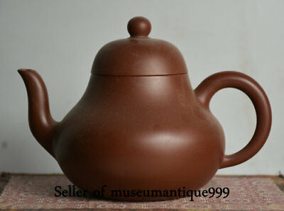 """6"""" Collect Old China Chinese Zishs red stoneware Pure Handwork Teapot Teakettle"""