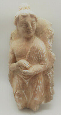 Museum Quality Ancient Gandhara Stucco Statue Panel Fragment Standing Buddha